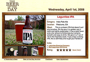 Old Beer of the Day Website